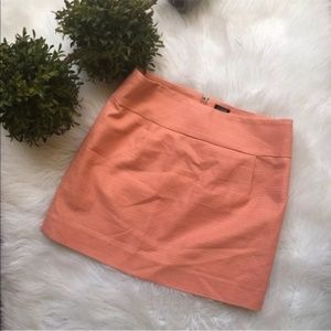 J.Crew Textured Mini Skirt in Coral